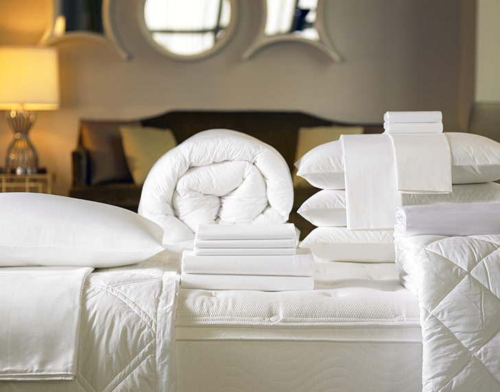 . Signature Bed   Bedding Set   The Custom Designed Sheraton Bed  Pillows   Exclusive Linens and More